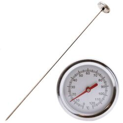 2X 20 Inch 50cm Length Compost Soil Thermometer Premium Food Grade Stainles T4S8 $19.96