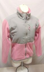 The North Face Jacket Woman's Size Large Pink Gray Coat Full Zip $24.95