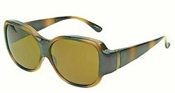 Large Solar Shield BEVERLY Polarized Fits Over Sunglasses Marbleized Brown