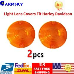 2PCS For 1986-2012 Harley Davidson Amber Yellow Turn Signal Light Lens Covers US $7.86