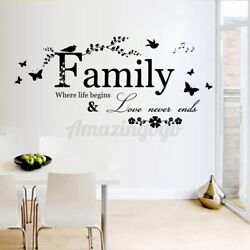 22.5#x27;#x27; Removable Home Decor Wall Sticker Family Letter Vinyl Decal Art Mural US $5.83