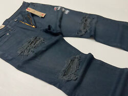 Levi#x27;s Levis 541 Athletic Taper Military Army Distressed Ripped Shredded Jeans $39.99