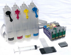 Empty Continuous Ink Supply System Epson WF 7520 3540 3520 PRINTERS CISS-T127  $36.50