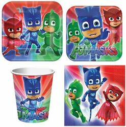 PJ Masks Party Express Pack for 8 Guests Cups Napkins amp; Plates $12.99