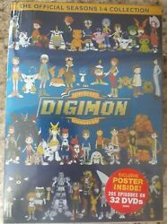 DIGIMON the official seasons: 1-4 w exclusive poster inside! U.S. Shipping!! $3.00