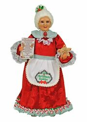 CHRISTMAS DECORATIONS MRS CLAUS BAKING GINGERBREAD COOKIES HOLIDAY FIGURINE $79.95
