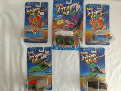 Lot of 5 1993 Mattel Hot Wheels Attack Pack Alien Invaders New in Card $23.99