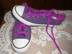 Converse All Star Youth Size 3 Canvas Tennis Athletic Shoes PURPLE amp; PRETTY $19.99