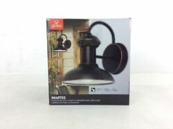 Globe Electric Martes 10 in Oil Rubbed Bronze Indoor Outdoor Wall Lantern Sconce