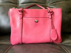 🔥Brand New Beautiful Leather Fuchsia Double Zip Carry All Coach Purse F25669🔥 $80.00
