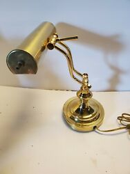 Vintage Brass Piano Lamp -Double Adjustable Arm Bankers Desk Lamp. Works Great! $15.00