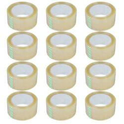 12 Rolls 2.7Mil 60Yards Heavy Duty Carton Packing Shipping Sealing Tape 180FT $13.99