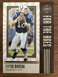 2020 Legacy For the Ages #FTA PM Peyton Manning Indianapolis Colts Panini $1.00