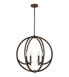 QUOIZEL LIGHTING quot;ORIONquot; 6 LIGHT 24quot; CHANDELIER ON2824WT $328.90