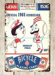 contemporary home decor 1965 Cincinnati Reds Scorecard Scorebook tin sign $15.79