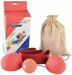 Punching Ball Boxing Speed Reflex Ball Set Speed Agility Training Gym Equipment $13.99