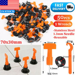 50X Reusable Tile Leveling System Floor Wall Flat Ceramic Positioner Spacer Clip $15.59