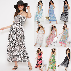 Women#x27;s Strapless Maxi Dress Plus Size Tube Top Long Skirt Sundress Party Dress $20.99