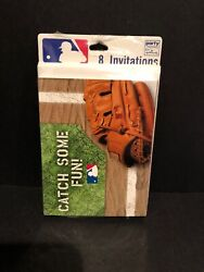 Baseball Party Invitations Party Express 8ct With Envelopes NEW $5.99