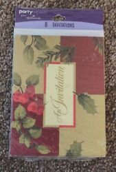 Holiday Christmas Invitation 8ct Party Express NEW $4.99