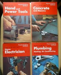 1976 Popular Science Skill Books: Plumbing Electrician Concrete Hand amp; Power $4.50