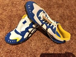 Asics Ominflex Mens Track Shoes White Black Chrome Yellow Spikes Not Includ NEW $29.99