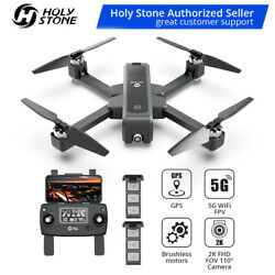 Holy Stone HS550 GPS drone 2K camera foldable 5G WiFi FPV quadcopter 2 batteries $199.99