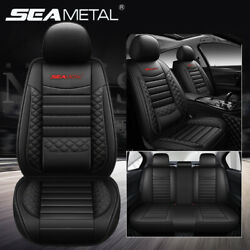 Universal Deluxe Leather 5-Seats Car Seat Cover Front Rear Cushion Mat Set US $59.99