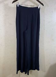 Reformation High Waisted Wide Leg Semi Sheer Pants Black Women#x27;s Size XS $47.00