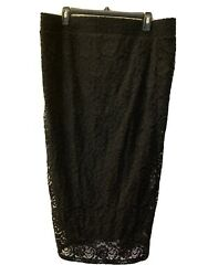 NWT Torrid Women's Black Lace Pencil Skirt Size 2 $23.00