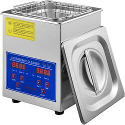 2L Cleaner Ultrasonic Jewelry Commercial with Digital Timer Basket