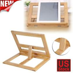 Book Holder Adjustable Angle Document Book Phone Reading Stand Foldable Portable $12.49