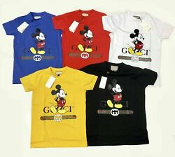 Gucci Shirt Brand New Mens Micky Mouse Tee Free Shipping