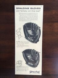 1957 vintage Original ad Spalding Baseball Gloves featuring Phil Rizzuto Model $7.99