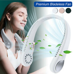 Portable USB Rechargeable Mini Neck Wearable Cooling Air Conditioner Cooling Fan $14.95