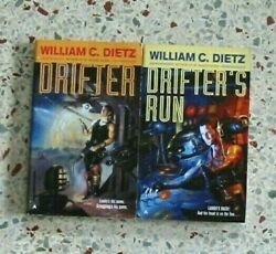 2 DRIFTER SERIES BY WILLIAM DIETZ VINTAGE SCI FI BOOKS NO DOUBLES FREE SHIPPING $8.95