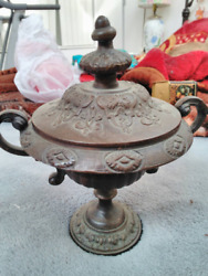Vintage Small Brass metal table urn Made in India $35.00