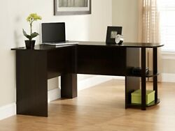 Ameriwood L-Shaped Office Desk with Side Storage Russet Cherry Finish $199.00