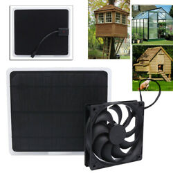 RV Roof Solar Powered Fan Mini Exhaust Fan for Dog House Greenhouse Pheasantry $29.50