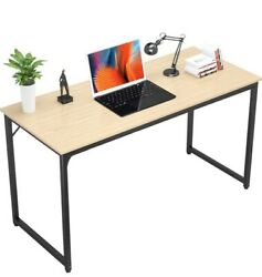 Writing Computer Desk 39 Inch Study Office Table Stylish Workstation Natural $135.00