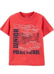 Carter#x27;s Toddler Boys Junior Police Patrol Graphic Tee Car Helicopter 4T NWT $9.99