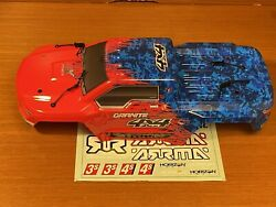 Arrma Granite 4x4 3S BLX Body Shell Red/Blue painted decaled ARA402209 $39.99