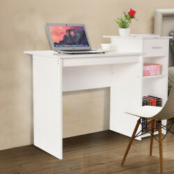 Small Computer Study Student Desk Table with Drawer Home Office FurnitureWH BK $81.88