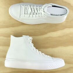 Converse Chuck Taylor All Star Modern High Top Triple White Shoes 157199C Size 7 $100.00
