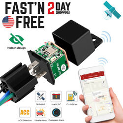 Anti theft GPS Car Tracker Real Time Device Locator Remote Control Hidden 10 40V $20.49