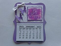 INSPIRATIONAL BE HAPPY 2021 MINI MAGNETIC CALENDAR MONTHLY TEAR OFF PAGES $5.99