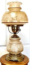 Vintage Quoizel Hurricane Gone With The Wind Table Lamp Satin Lace 24