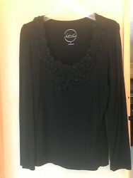 International Concepts (inc) XL black dress top