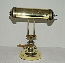 Vintage Brass Piano Organ Bankers Desk Lamp Adjustable Arm 16-12