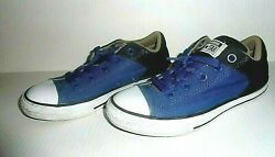 Converse All Star Boys Junior Blue Canvas Sneakers Shoes Sz. 3 $13.98